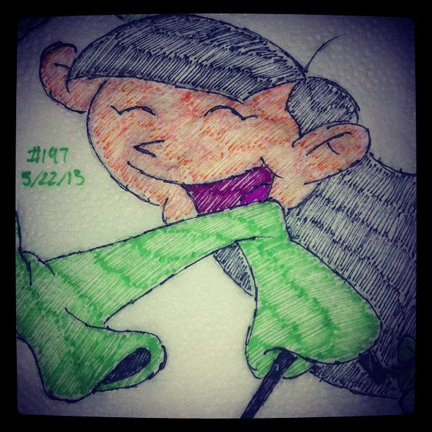 napkin_art_197___numbuh_3___kids_next_door_by_peterparkerpa-d6frr3k
