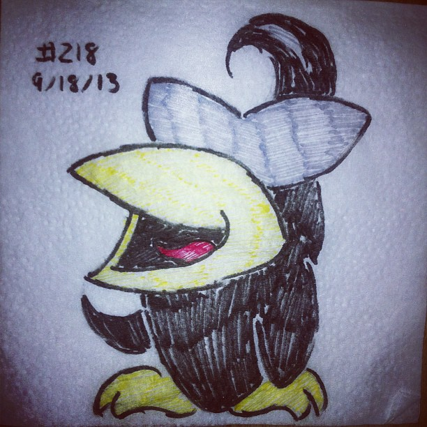 napkin_art_218___the_spiteful_crow___earthbound_by_peterparkerpa-d6r1ate
