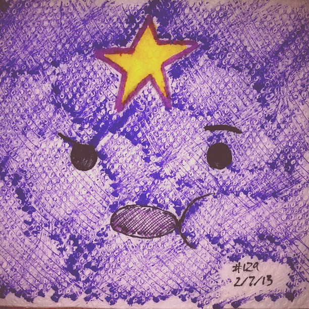napkin_art_129___oh_my_glob___lsp_adventure_time_by_peterparkerpa-d5x1gwv