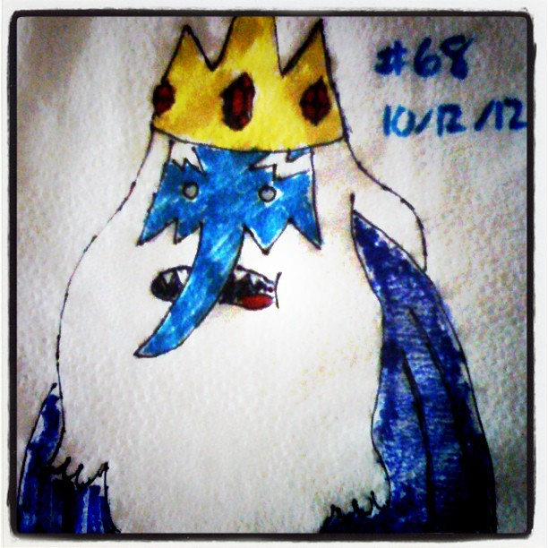 napkin_art__68___the_ice_king___adventure_time_by_peterparkerpa-d5ps2y9
