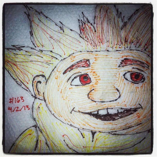 napkin_art___163___sandman___rise_of_the_guardians_by_peterparkerpa-d66c1um