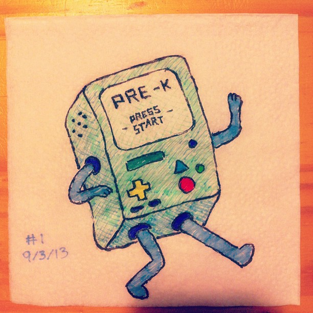 napkinart___001___press_start_to_begin____bmo_by_peterparkerpa-d6ky56e