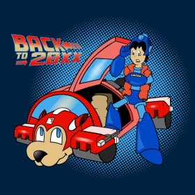 "Mega Man meets Marty McFly in ""Back to 20XX"""