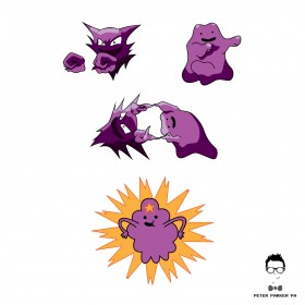 """Fusion... Huh?!"" sees the Pokemon Haunter and Ditto forming Lumpy Space Princess by completing the Dragon Ball Z Fusion Dance."