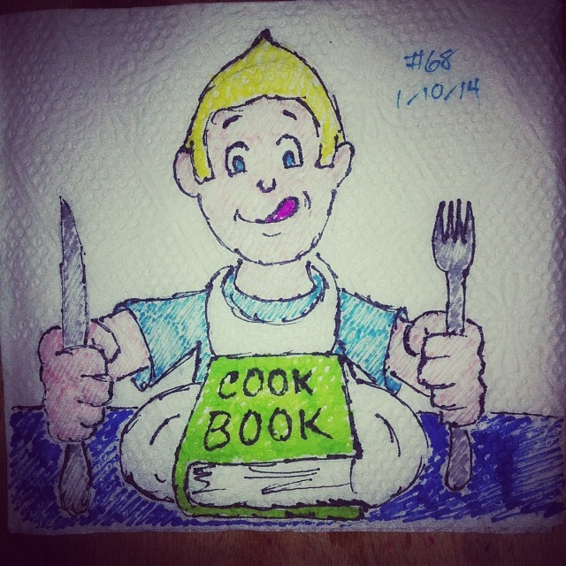 cook book napkinart