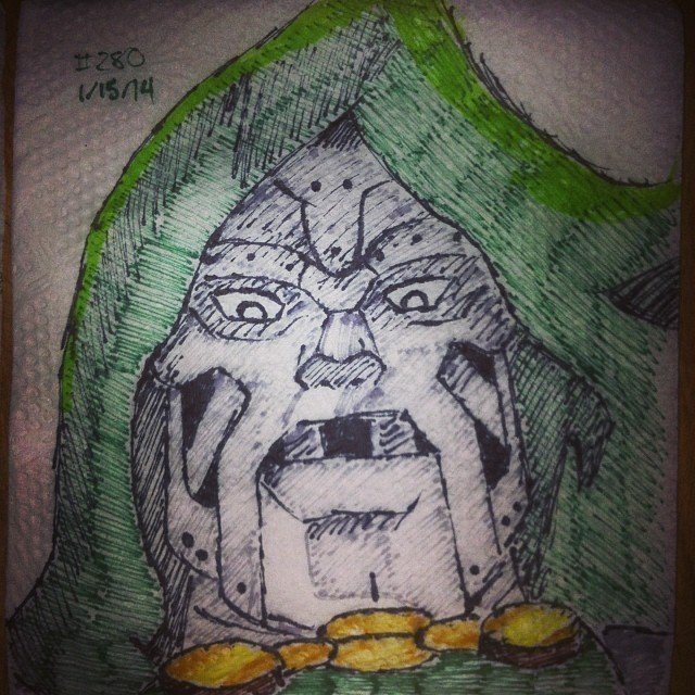 doctor doom napkinart