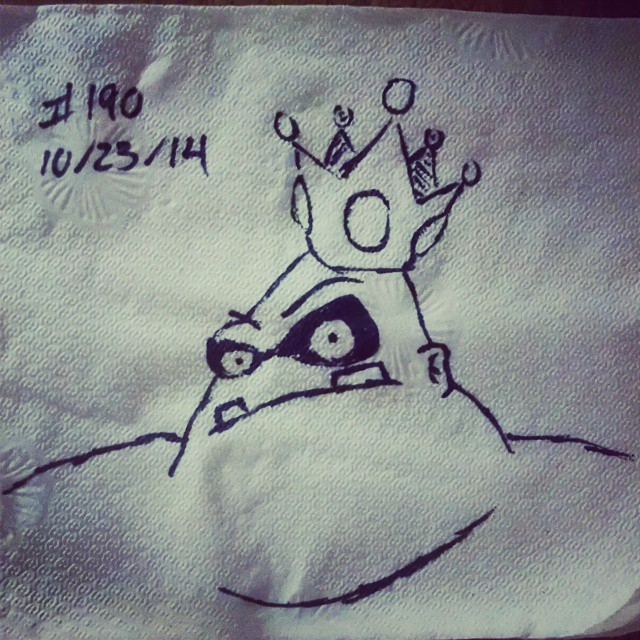 king hippo napkinart