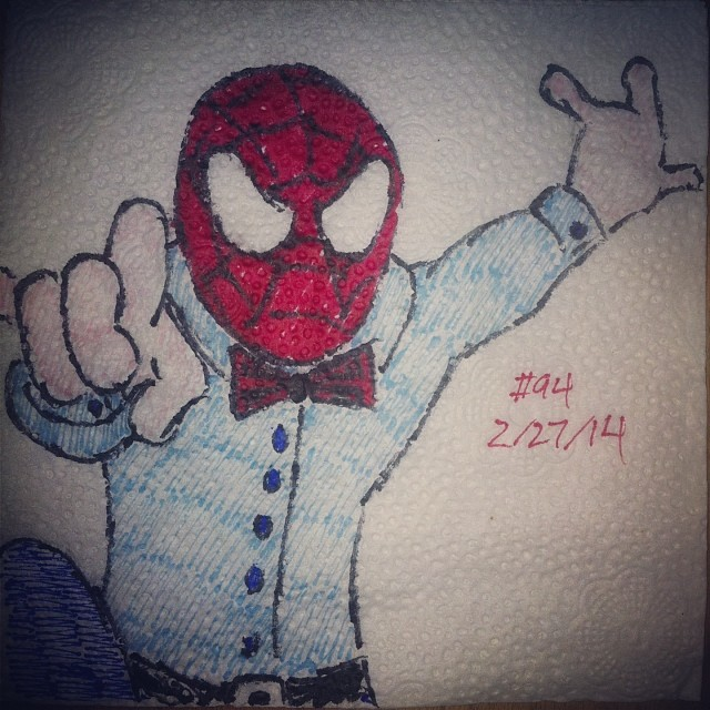 spider-man napkinart