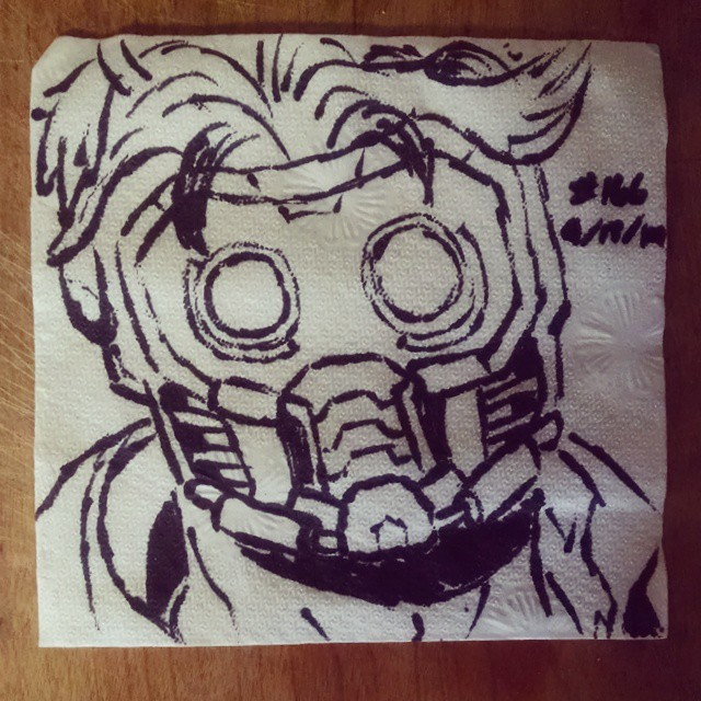 star-lord napkinart